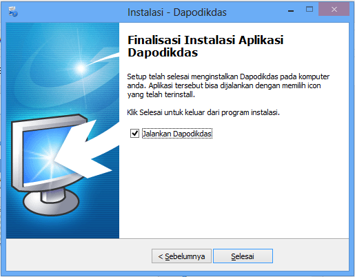 Cara install aplikasi Dapodik 2013 di Windows 8 64bit atau 32bit